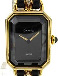 9596c0b2b451 [シャネル] CHANEL プルミエールS ウォッチ 腕時計 ブラック レザーベルトxGP(ゴールド ...