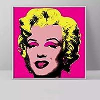 海外限定 「Marilyn Monroe マリリン モンロー」アンディ ウォーホル ANDY WARHOL 大型サイズあり キャンバス ポスター 美術品 絵画 (2, 70x70cm)