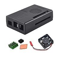 Raspberry Pi 3B / 3B+ ケース 保護ケースエンクロージャボックス ミニDC 5V冷却ファンヒートシンクキット付き