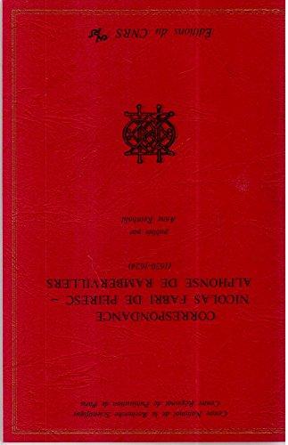 Correspondance Nicolas Fabri de Peiresc-Alphonse de Rambervillers (1620-1624)