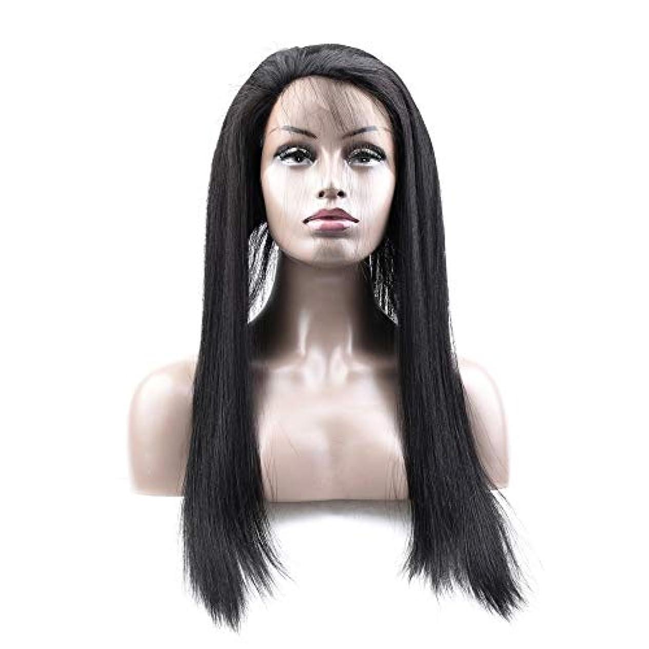 砂群集モーテルJULYTER ブラジルの360前頭ストレート本能的な髪レース前頭閉鎖ストレート人間の髪の毛1B本能的な色 (色 : 黒, サイズ : 14 inch)