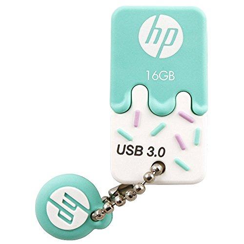 HP USBメモリ 16GB USB 3.0  ブルー アイスクリーム ゴム製 耐衝撃 防塵 のフラッシュドライブ  x778w HPFD778W-16