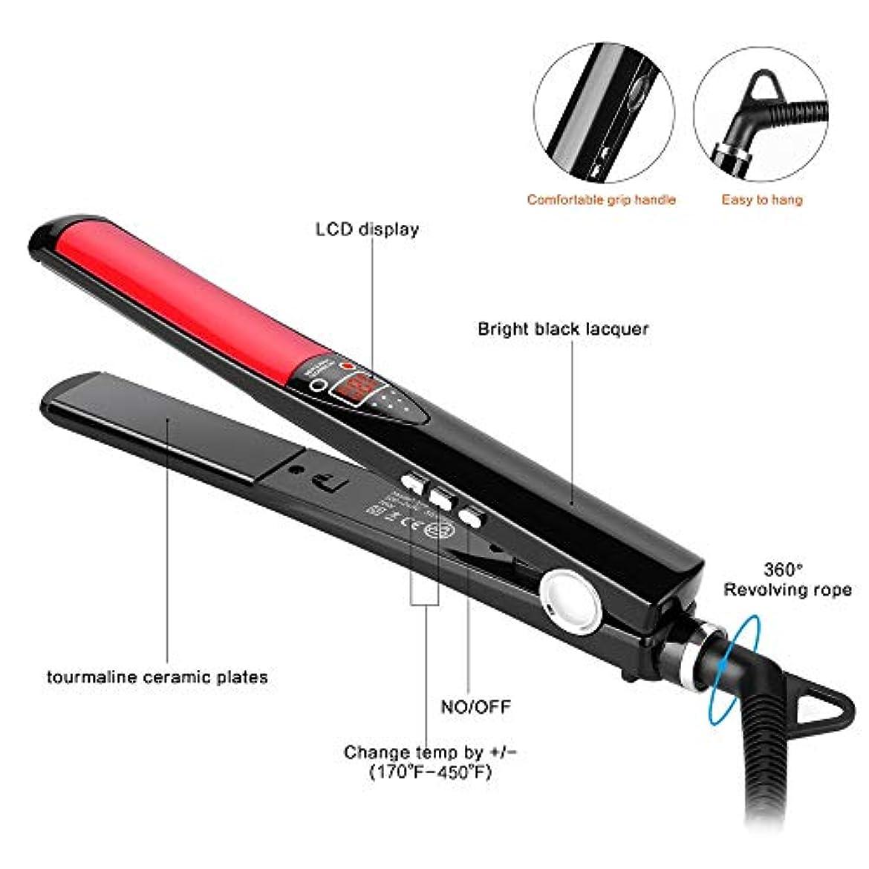 学期動物セラーストレートヘアスティック 貯蔵および旅行のためのデジタルLCD表示が付いている携帯用家のストレートナの二重電圧ストレートナ すべてのタイプの髪に適しています (色 : A, サイズ : Free size)