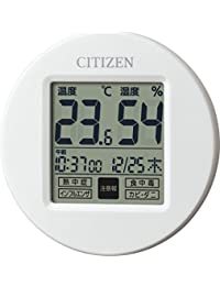 CITIZEN 高精度温度湿度計・時計付 ポップなカラーで小型のモデル ライフナビプチA 8RD208-A03