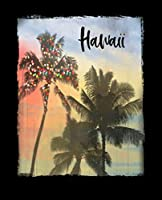 Hawaii: Hawaiian Christmas Notebook With Lined College Ruled Paper For Taking Notes. Stylish Tropical Travel Journal Diary 7.5 x 9.25 Inch Soft Cover. For Home, Work Or School.