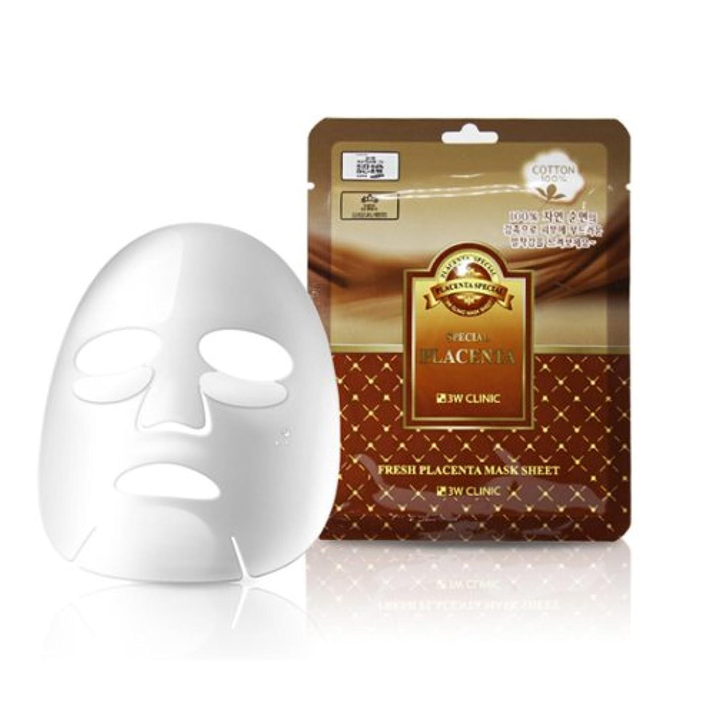 飛躍崩壊争い3Wクリニック[韓国コスメ3w Clinic]Premium Placenta Mask Pack プレミアムプラセンタシートマスクパック10枚[並行輸入品]