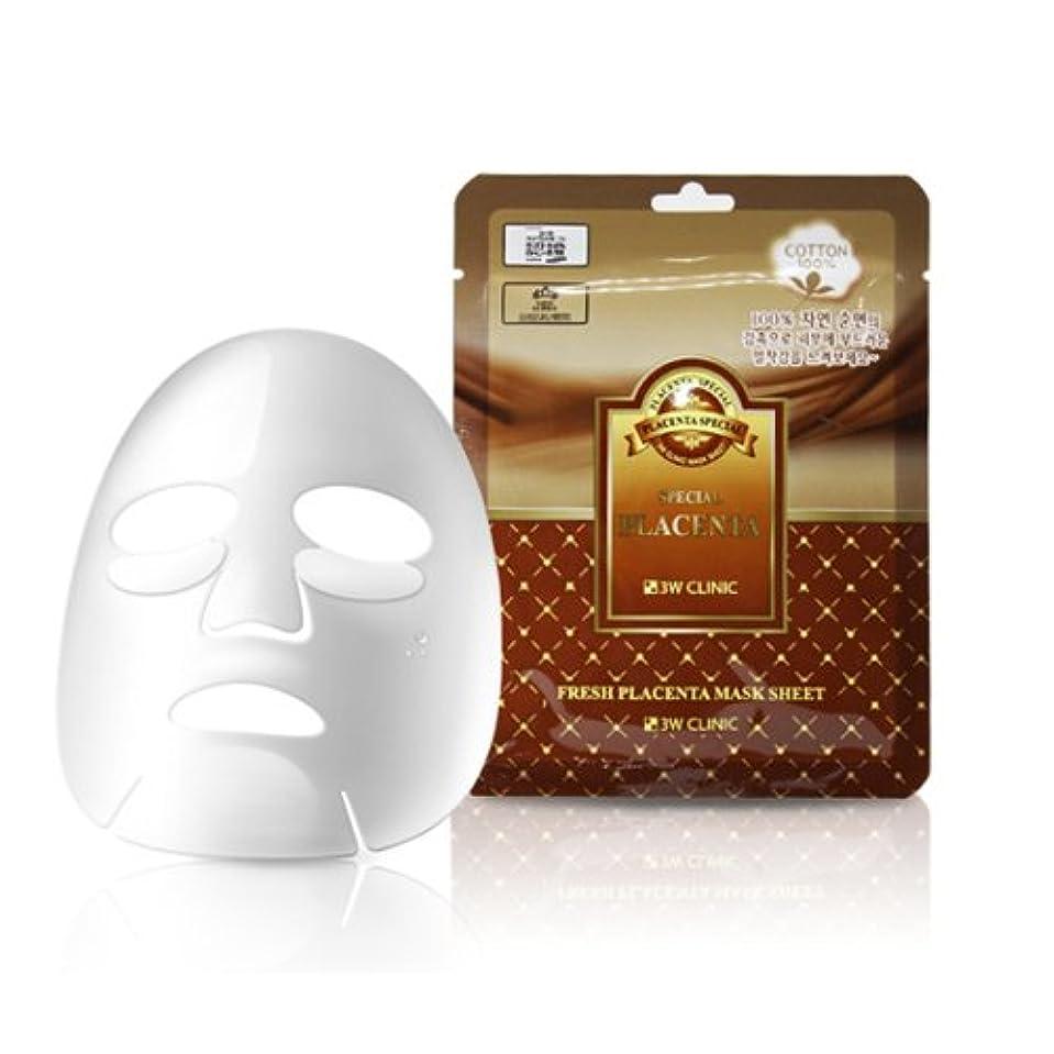 暴力誤解する探偵3Wクリニック[韓国コスメ3w Clinic]Premium Placenta Mask Pack プレミアムプラセンタシートマスクパック10枚[並行輸入品]