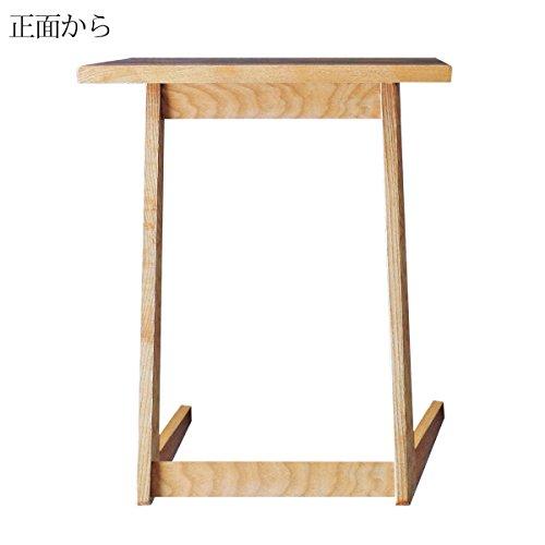 モンド サイドテーブル ベッドサイドテーブル ナイトテーブル 木製 タモ無垢 幅45cm -