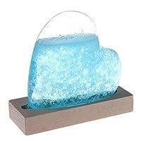 ストームグラス 天気予報器 結晶観察器 心型のインテリア 家に飾る (母の日・バレンタイン・結婚記念日など様々なお祝いのシーンに最適) (ブルー)