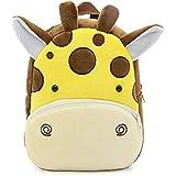 FLORICA Toddler Kids Backpacks Cartoon Cute Animal Plush Backpack Toddler Mini School Bag for Little Girls Boys Kids