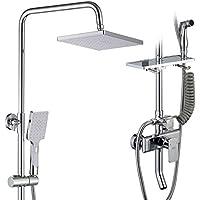 バスルームレインシャワーシステム、ハンドウォールマウント - 3つのアウトレットシャワーは、柔軟性を重視しています - 豪華なバスルームシャワーセットのホルダー - ファミリー、ホテルに適しています