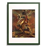 テオドール・ジェリコー Gericault, Theodore 「Officer on horseback armed with sabre. 1812/16」 額装アート作品