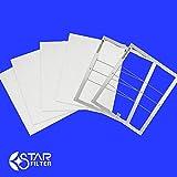 レンジフードフィルター スターターセット 専用枠2枚+フィルター4枚(ガラス繊維タイプ) [サイズ:横297×縦330×厚7mm]