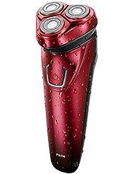 ひげそり 電動 メンズシェーバー,USB充電式 髭剃り 電気シェーバー 回転式 髭剃り ひげそりIPX7防水 電気シェーバー 持ち運び便利 お風呂剃り丸洗い可 人気プレゼント
