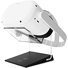 Illuminated Charging VR Stand – Universally Compatible with Oculus Quest, HTC Vive, Rift-s, Go, Cosmos, PSVR, Index and All Standard Sized VR Headsets | Aura