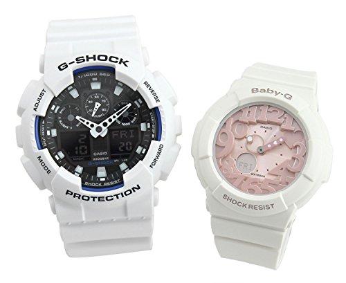 [カシオ]G-SHOCK Baby-G ペアBOX付き ペアウォッチ 腕時計 ホワイト GA-100B-7A-BGA-131-7B2 【並行輸入品】