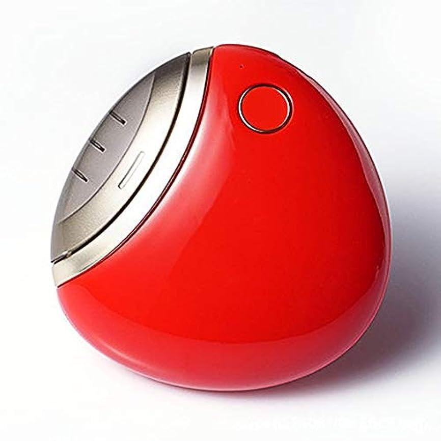ペレグリネーションシーケンス偽装する電動ネイルクリッパー、充電式自動ネイルクリッパー(500 Mahバッテリー付き)内蔵ネイルデブリボックス安全マニキュアツール,赤