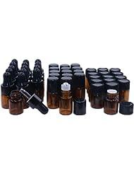 Amber Glass Essential Oil Bottles,2ml 15 Pack,Kit Included:Stainless Roller Ball Bottle,Eye Dropper Bottles,Aromatherapy...