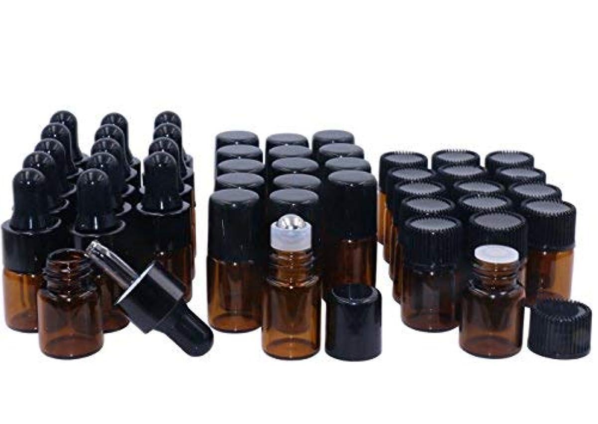 マダムねばねばキャストAmber Glass Essential Oil Bottles,2ml 15 Pack,Kit Included:Stainless Roller Ball Bottle,Eye Dropper Bottles,Aromatherapy...