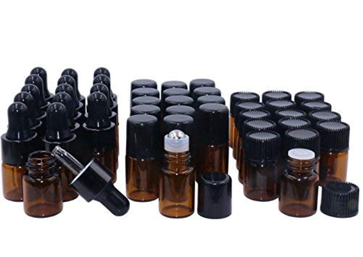 メモ五月オーストラリアAmber Glass Essential Oil Bottles,2ml 15 Pack,Kit Included:Stainless Roller Ball Bottle,Eye Dropper Bottles,Aromatherapy...