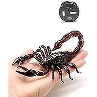 vibolaシミュレーション動物サソリScaryおもちゃリモートコントロールリアルなRC Prank Holidayハロウィンギフトモデル Size: approx. 16cmx10cmx3cm ブラウン Vibola®25