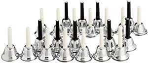 KC ミュージックベル (ハンドベル) 23音 セット MB-23K/S シルバー