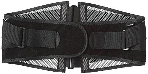 [ミズノ] 腰部骨盤ベルト ワイドタイプ 薄型メッシュ 通気性 幅広 安定 固定力 介護 運転 男女兼用 C3JKB502 05 ブラック×グレー LL