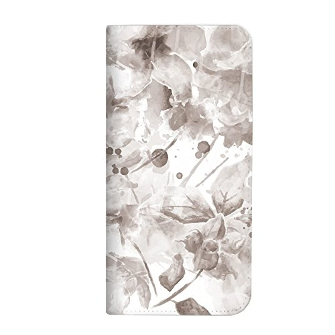 つづりアカデミーロッカーmitas ZenFone 3 ZE552KL ケース 手帳型 ベルトなし 水彩 花 フラワー D (245) NB-0221-D/ZE552KL