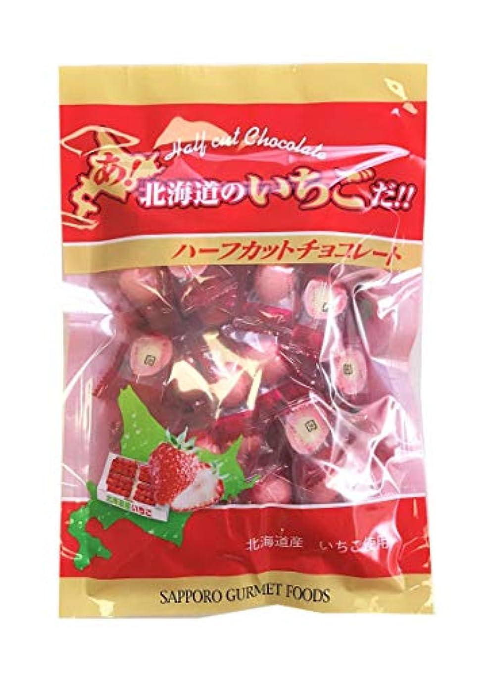 集中菊痴漢札幌グルメフーズ あ、北海道のいちごだ!!ハーフカットチョコレート 250g