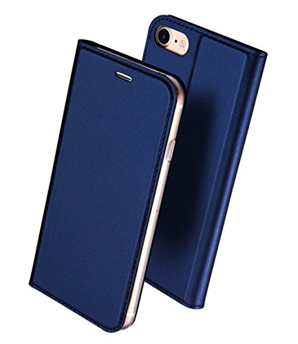 iphone6s ケース 手帳型 高級PU レザー iPhone6 ケース カバー 耐衝撃 カード収納 マグネット スタンド 機能付き 耐摩擦 人気 おしゃれ アイフォン6 手帳型ケース (iPhone6s/6, ブルー)