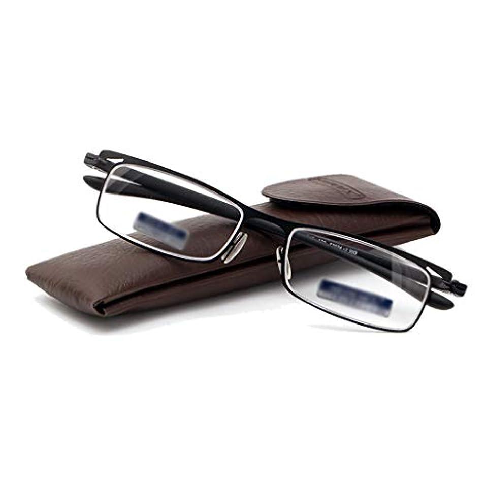 ファッション老眼鏡、男性と女性のための簡単な老眼鏡樹脂Pcレンズ、ステンレススチール製フレーム(+ 1.0、+ 1.5、+ 2.0、+ 2.5、+ 3.0)