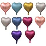 D DOLITY バルーン 18インチ ハート形 箔マイラー風船 結婚式の装飾 10個 多色選べ - 混合