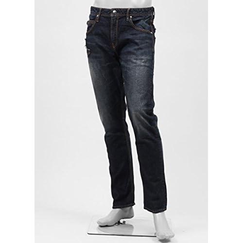 (ジミー タヴァニティ) JIMMY TAVERNITI ジップフライジーンズ 30サイズ ROCKY REGULAR FIT/TAPERED LEG インディゴブルー [並行輸入品]