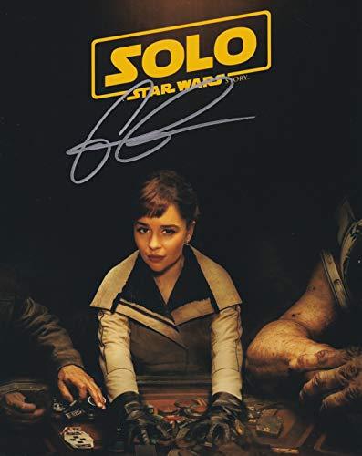 直筆サイン入り写真 ハンソロ スターウォーズ ストーリー SOLO A STAR WARS STORY キーラ エミリア・クラーク/映画 ブロマイド オートグラフ 【証明書(COA)・保証書付き】