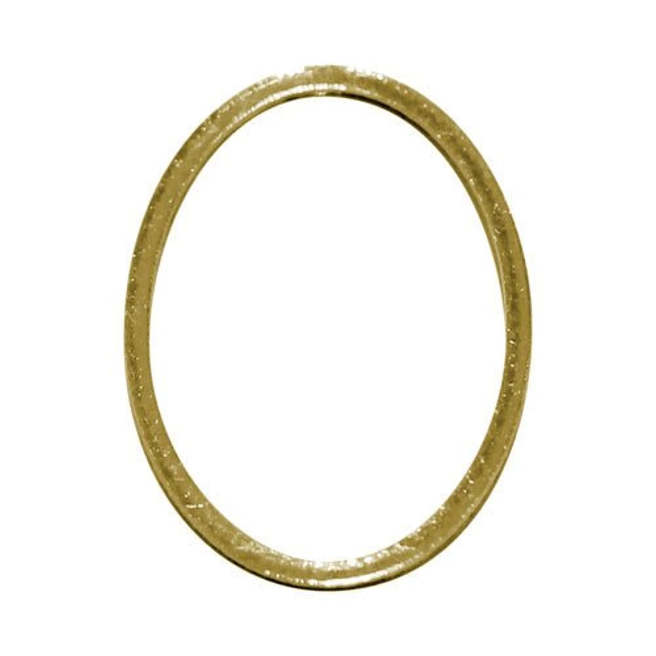 ささいな回復する花嫁プリティーネイル ネイルアートパーツ フレームオーバルL ゴールド 3個