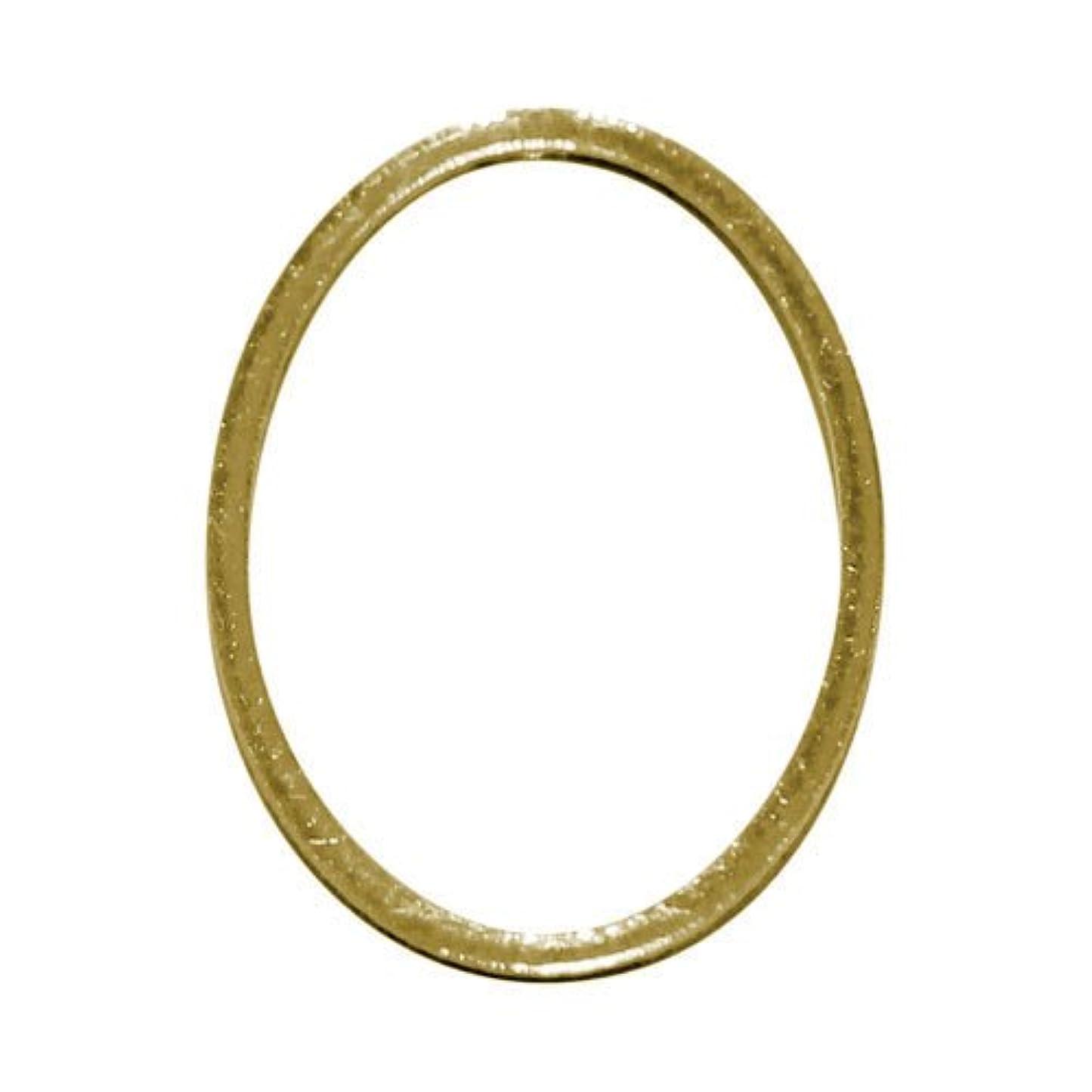 浪費雄弁すり減るプリティーネイル ネイルアートパーツ フレームオーバルL ゴールド 3個