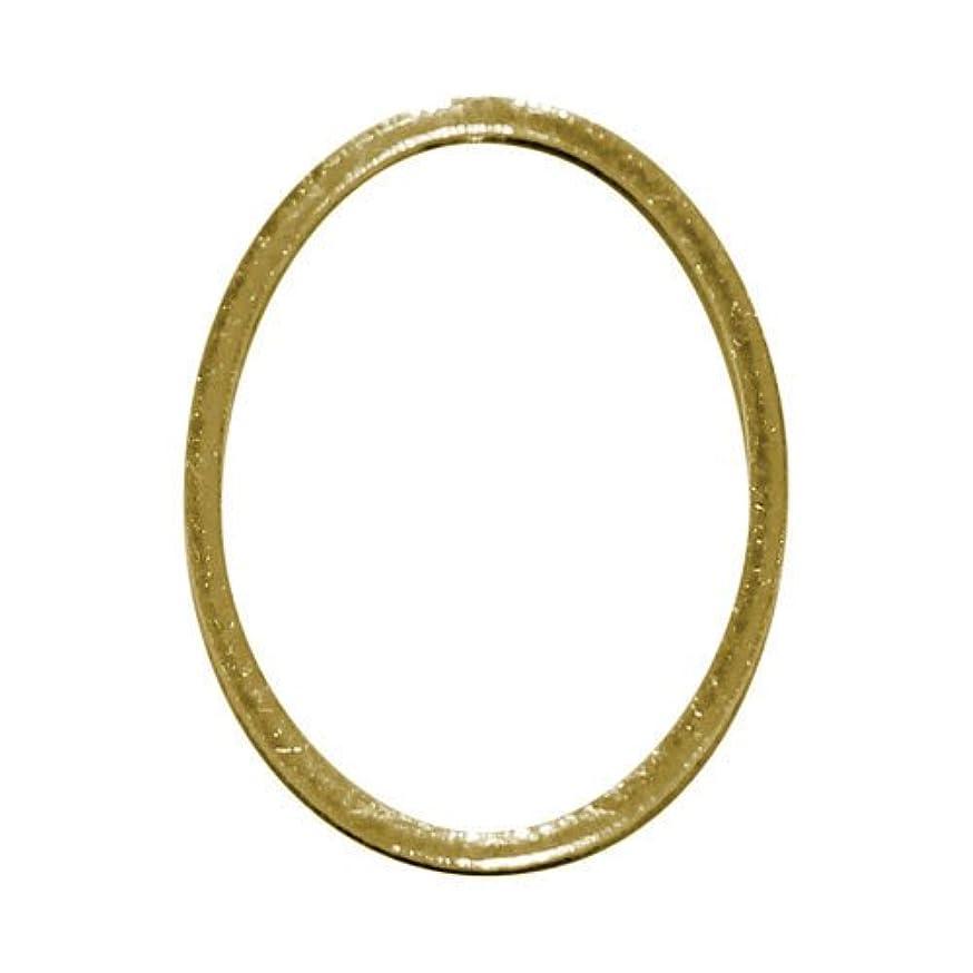 哲学的ステレオタイプ花輪プリティーネイル ネイルアートパーツ フレームオーバルL ゴールド 3個