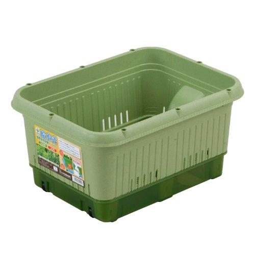 グリーンパル 給水式葉野菜用プランター400型 コロ付