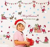 壁紙★メリクリスマス★ウォールステッカー★室内装飾★壁シール★60*90CM