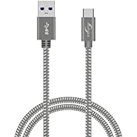 Type CケーブルB·Brighter USB-C to USB3.0 ケーブル 高耐久ナイロン編み 高速データ転送対応 新しいMacBook Pro/Galaxy S9、S8+、note 8 /huawei P10/Nintendo Switch/Xperia XZ/MacBook / Nexus 5X / ChromeBook Pixel usbタイプC機器対応 (3m グレー)