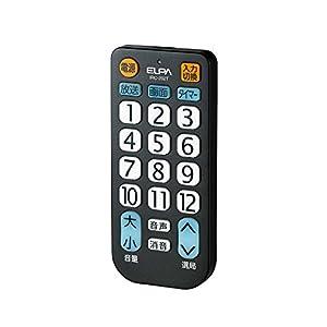 ELPA エルパ 朝日電器 IRC-202T(BK) テレビリモコン IRC-202T(BK)