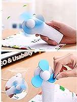 扇風機 夏 ミニ冷却ファン ポータブル アウトドアキャンプ 手持ち式 クールファン LEDライト兼用 by amzmonnsuta (ブルー)