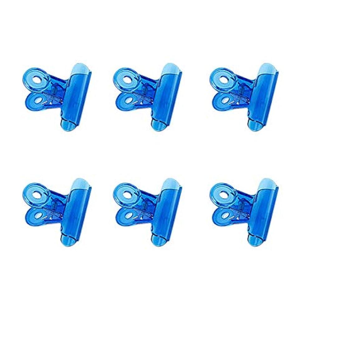 チャット寛容カナダCUHAWUDBA 6個/セット Cカーブネイルピンチクリップ 多機能ツール アクリルネイルピンチャー ペンチブルー