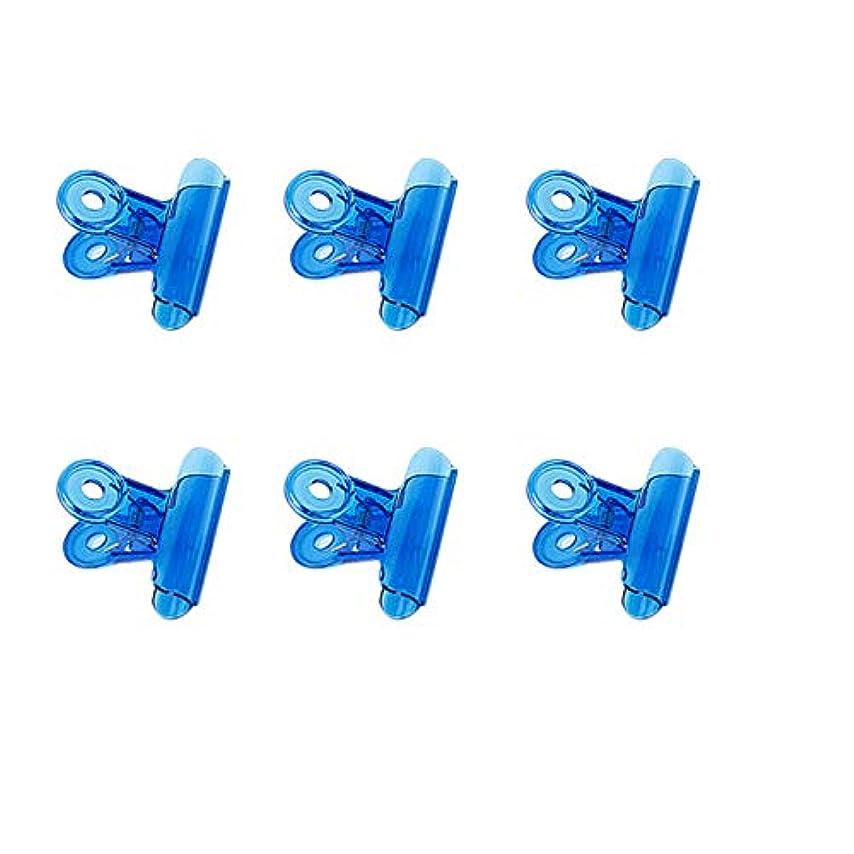 燃やす軽減する選択CUHAWUDBA 6個/セット Cカーブネイルピンチクリップ 多機能ツール アクリルネイルピンチャー ペンチブルー