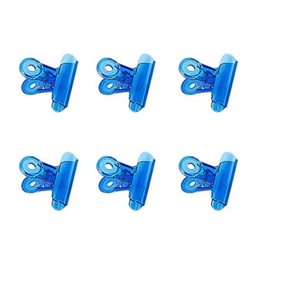反毒特徴非アクティブCUHAWUDBA 6個/セット Cカーブネイルピンチクリップ 多機能ツール アクリルネイルピンチャー ペンチブルー