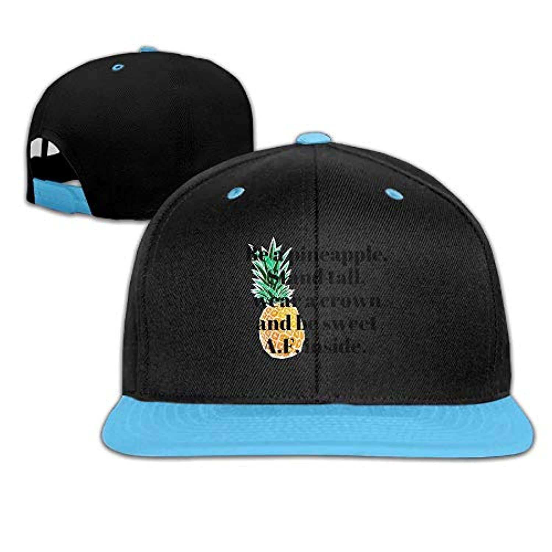 パイナップル おもしろい ヒップホップ ハット スポーツ 野球帽 日焼け止め キャップ 子ども 帽子