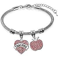 Appreciation Gift:Charm heart pendant bracelet for teacher's day,graduation gift,Christmas Day,New Year