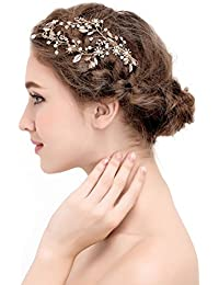 AWEI 結婚 式 髪 飾り, スイート ウェディングヘアクリップ, 美しい 女性用 ウェディングヘアコーム