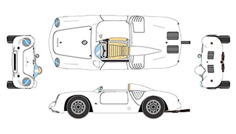 メイクアップ VISION 1/43 ポルシェ 550A 1500RS スパイダー 1956 ホワイト 完成品