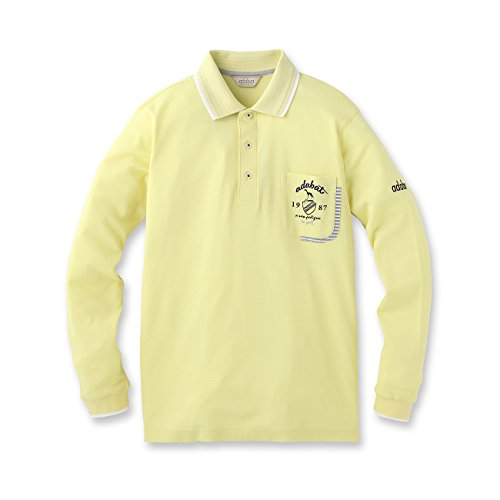 (アダバット) adabat Fタック長袖ポロシャツ 08218422 48(L) レモンイエロー(031)